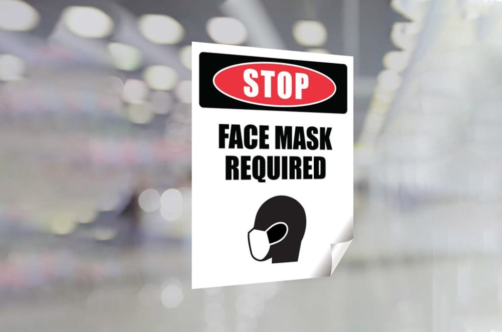 Face Mask Window Clings 2