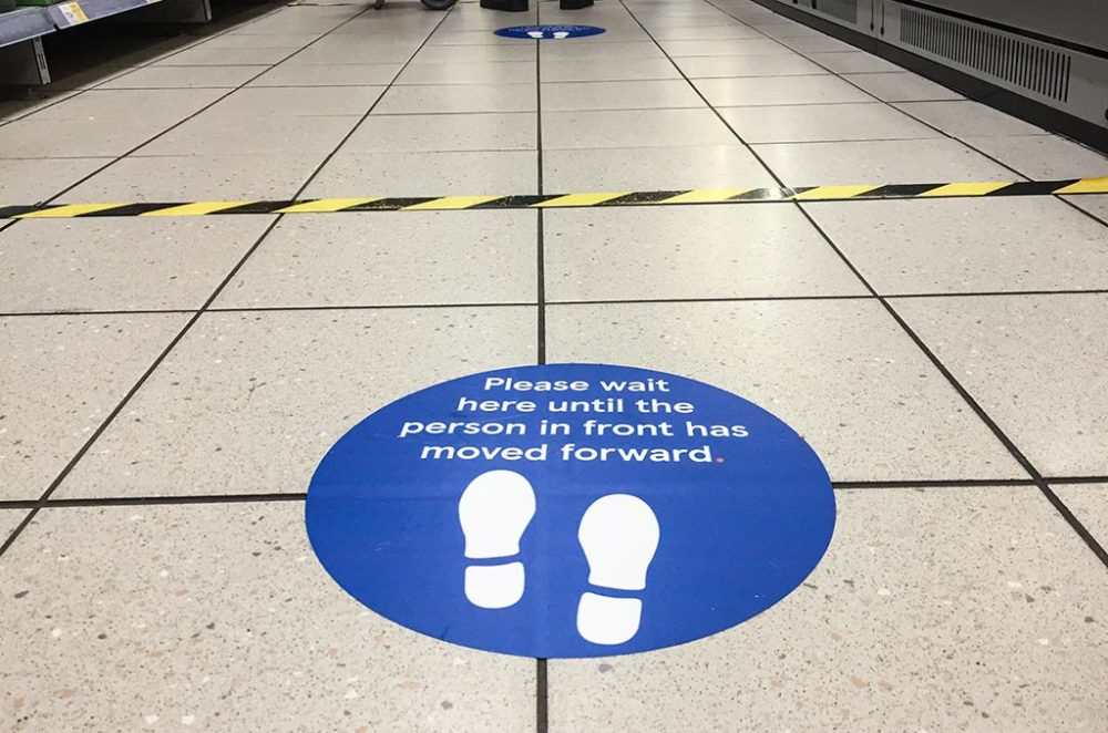 Social Distancing Floor Stickers 1